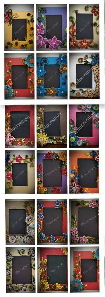 Quilled Frames-Artist's name on photos