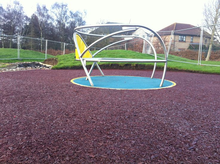 Rubber Mulch Playground Construction