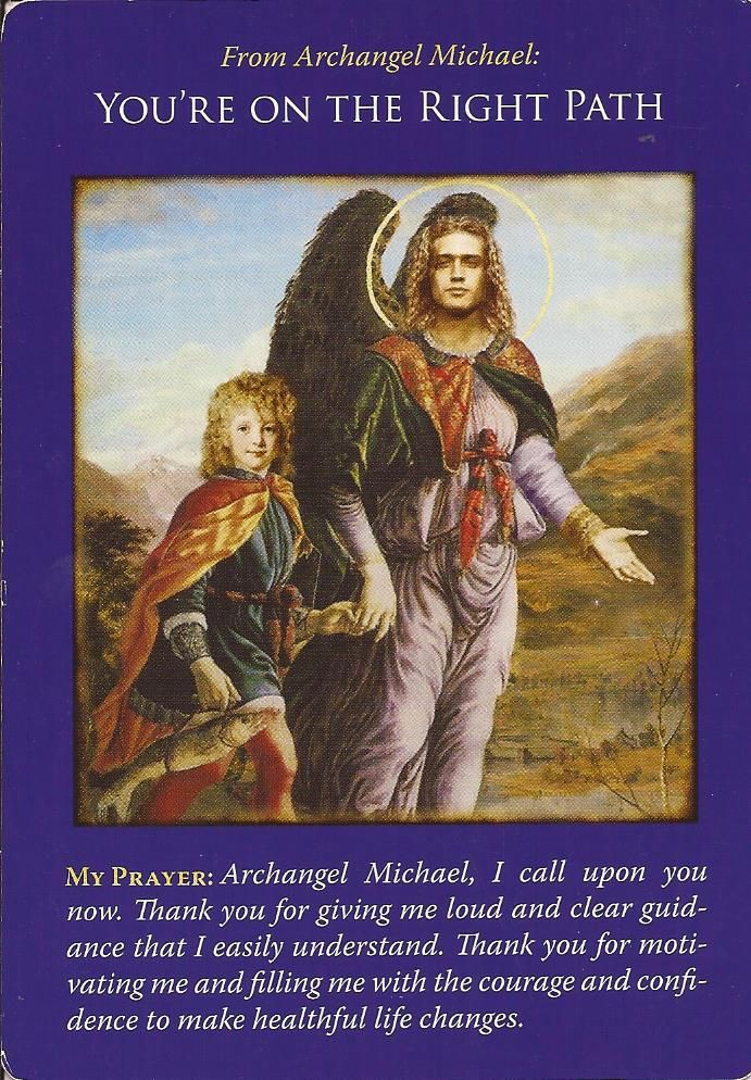 Hello Everyone! ~ <3 ~ Card Of The Day ~ <3 ~ You're On The Right Path ~ <3 ~ Archangel Michael comes in to tell us that he is here and waiting for us to ask him for help. He would like to help us with all manner of things, from our Spiritual Path way, to our health and relationships. Please call on him to help you. He is able to help all of us at once, all we have to do is ask and believe. He is proud of the distance that you have already traveled, and would like to ...