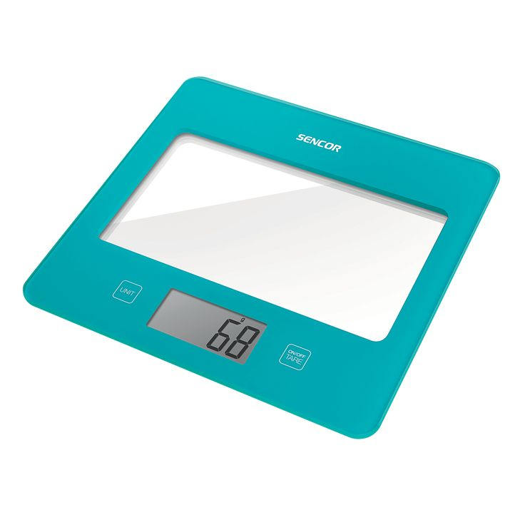 Sencor Kitchen Scale SKS 5027TQ - Ultra slim design (height only 16 mm) - Large LCD display (55 x 25 mm) - Successive weighing function
