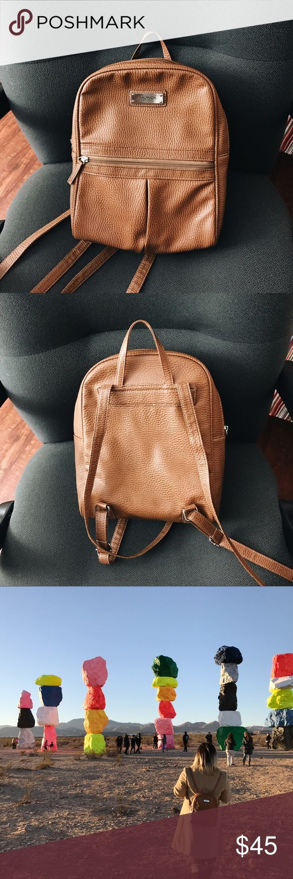 Brown Backpack Used 2 times | Excellent condition | Medium sized backpack Bags Backpacks