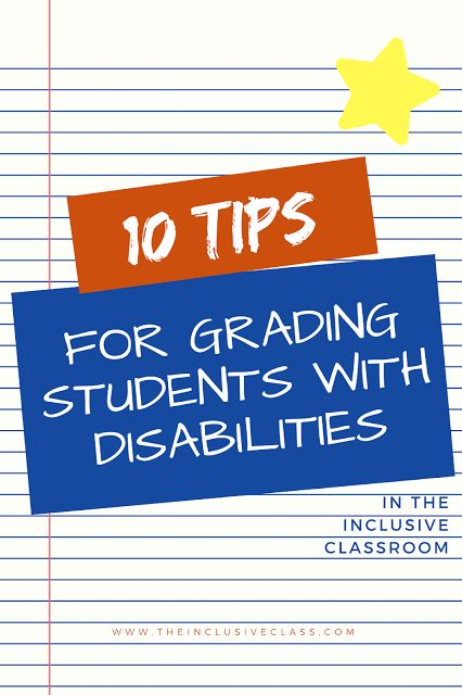 The Inclusive Class: 10 Tips for Grading Students with Disabilities in the Inclusive Classroom