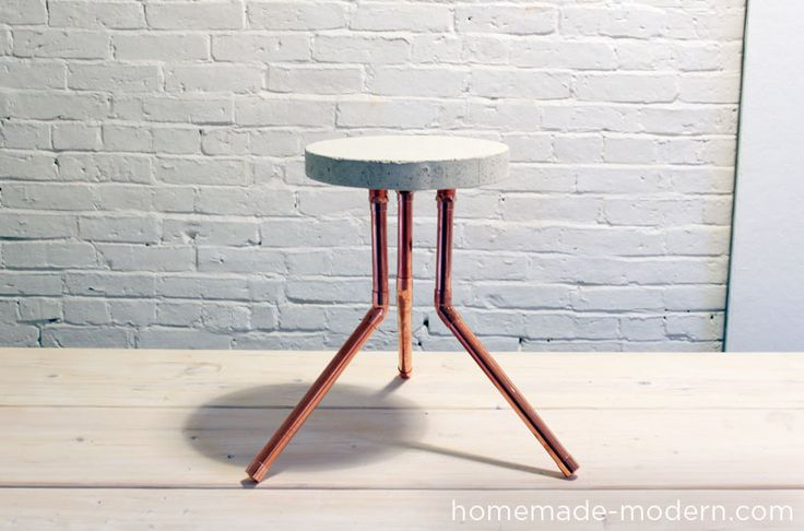 So brilliant for so cheap and easy. I can see using this to do more than just stools - setting concrete in a cake pan with the flanges set into the concrete.