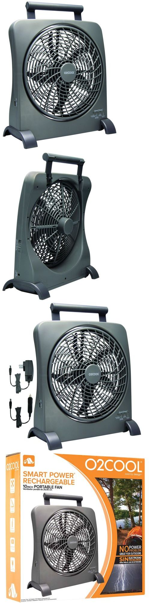 Portable Fans 20612: O2cool 10 Portable Smart Power Swivel Fan With Ac Adapter And Usb Charging Port -> BUY IT NOW ONLY: $44.57 on eBay!