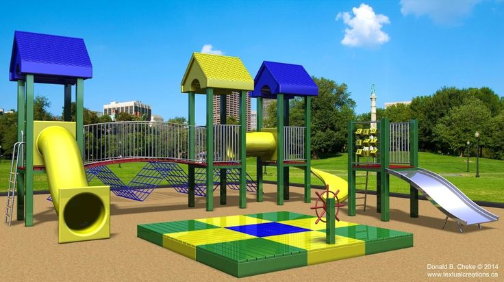 Playground 3D Model / Rendering - Created in TurboCAD Pro Platinum by Don Cheke | #CAD #TurboCAD