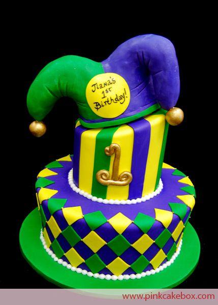 jester birthday cake