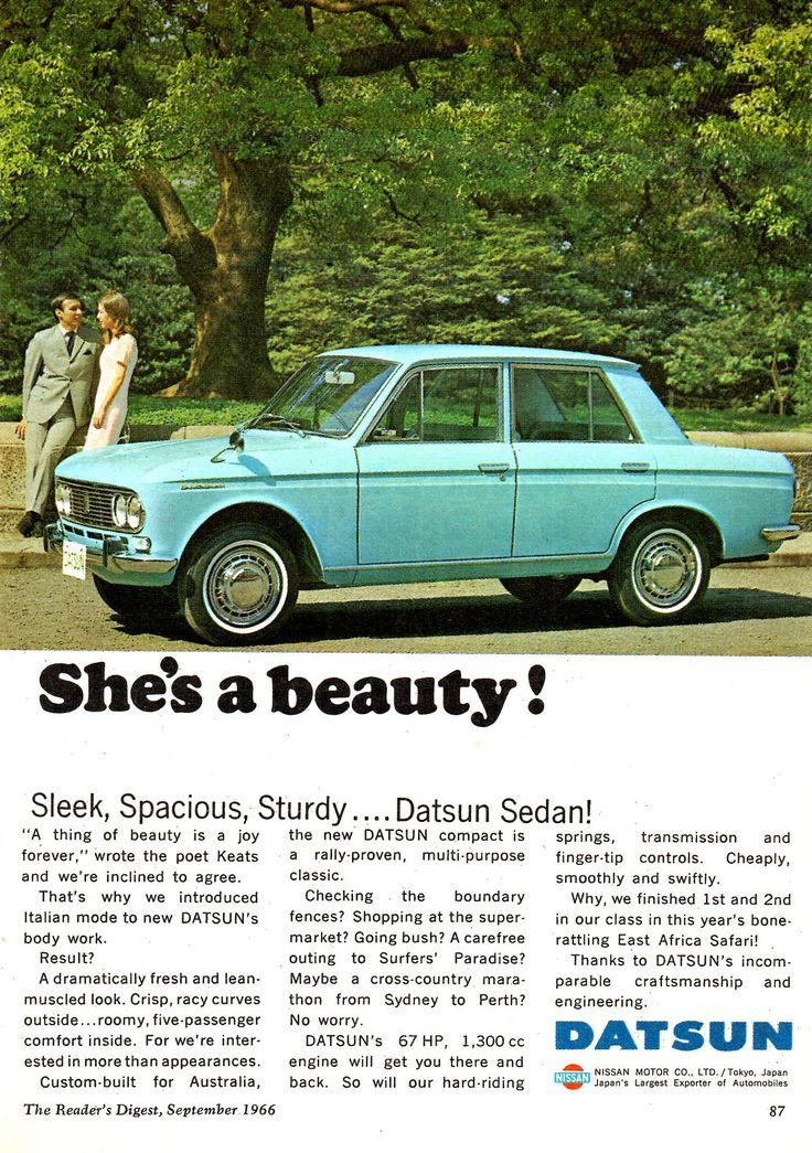 https://flic.kr/p/226o3mj   1967 Datsun 1300 4 Door Nissan Aussie Original Magazine Advertisement
