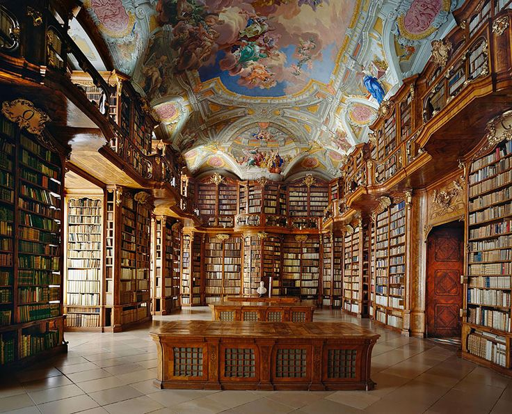 BORED PANDA ~ 25 of the Most Majestic Libraries in the World. Pictured: St. Florian Monastery, Austria. [Click for article and photo gallery]