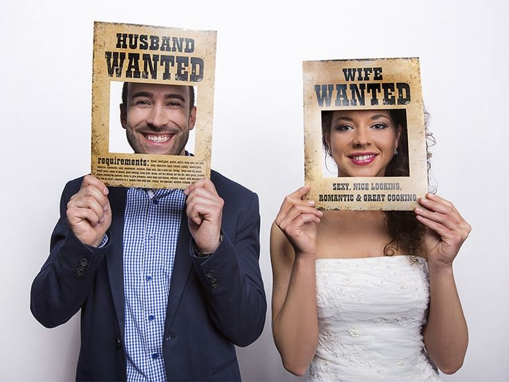 "Posters ""Husband Wanted"" & ""Wife Wanted"" PartyDeco.pl"
