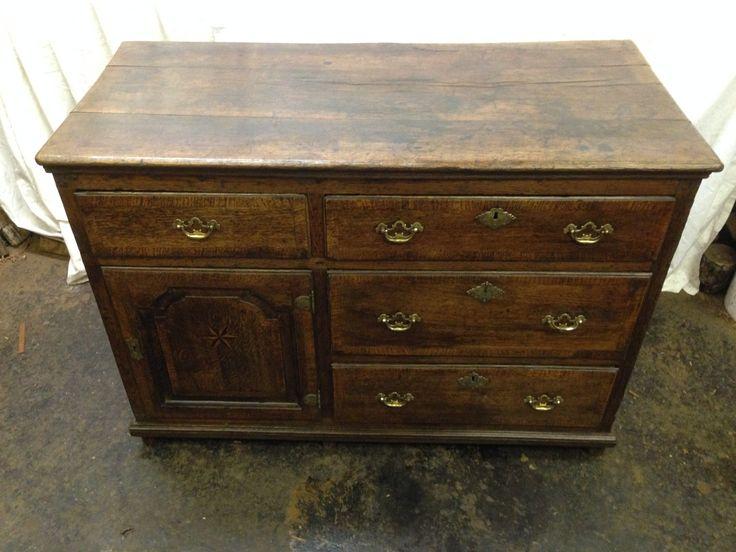 18th century oak dresser base
