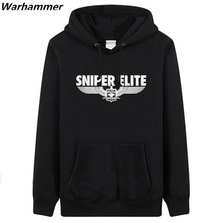 Warhammer Games Sniper Elite Hoodies Men Print SNIPER ELITE Winter Cotton Fleece Game Team Hoodies Pullover Tracksuits 3XL Hoody #Affiliate