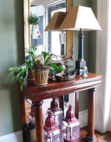 Lovely Entry Hall Table Decor