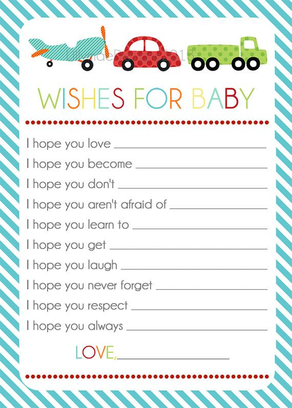 Wishes for Baby  Transportation design Baby boy by LillyMaeDesigns