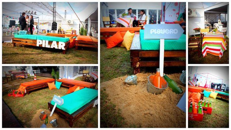 espacio Playero para el picnic del cierre del PAM 2013, diseñado para PILAR