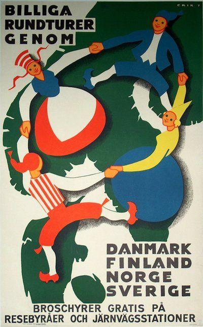 Billiga Rundturer. Designer:Erik F Year:1951