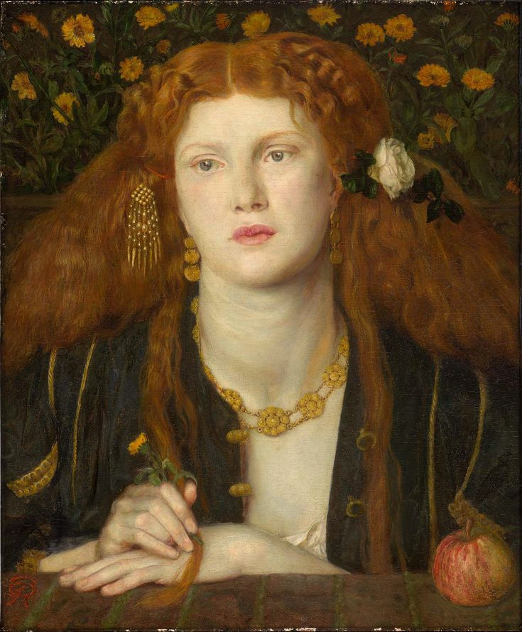 """""""Bocca Baciata"""" (Lips That Have Been Kissed) (1859) by Dante Gabriel Rossetti"""
