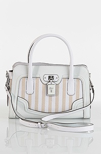 Guess Breeze Satchel, white
