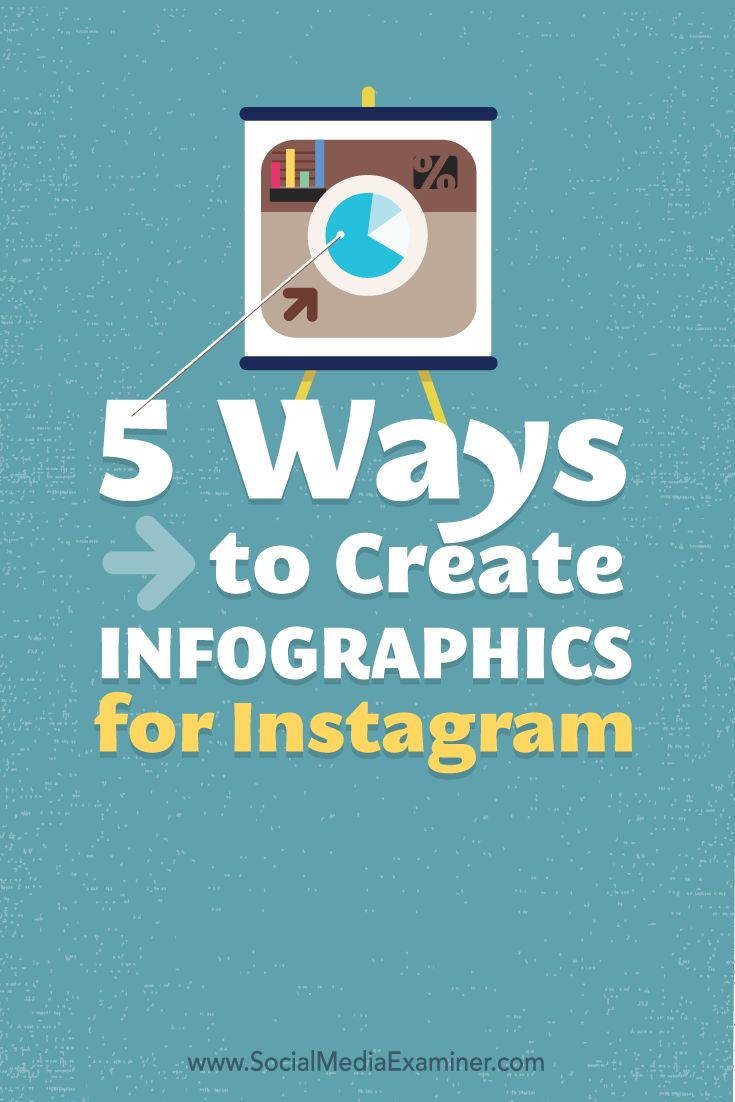Want more engagement on Instagram?  Introducing infographics into your Instagram marketing campaigns will attract more viewers and set you apart from other companies.  In this article you'll find five ways to create infographics for Instagram. Via @smexaminer