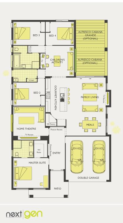 Mcdonald Jones Homes Havana Collection Floorplan