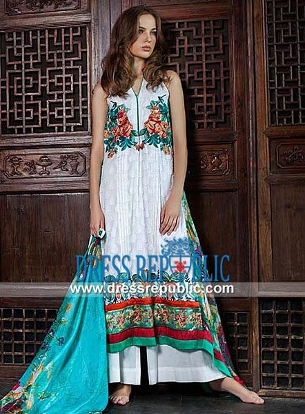 Mahiymaan 2014 Signature Series Embroidered Spring Lawn  Pakistani Designer Lawn Suits 2014: Mahiymaan 2014 Signature Series Embroidered Spring Lawn in United Kingdom. Call London, UK:  44 208 123 4031. by www.dressrepublic.com