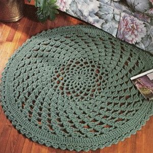 Crocheting Rugs : Lacy Clusters Rug Crochet Pattern ePattern - Leisure Arts