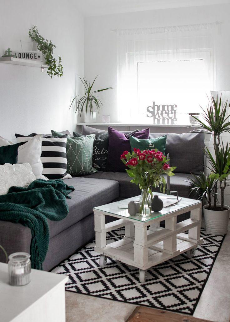 Die besten 25+ Grün und grau Ideen auf Pinterest Graue - wohnzimmer grun orange