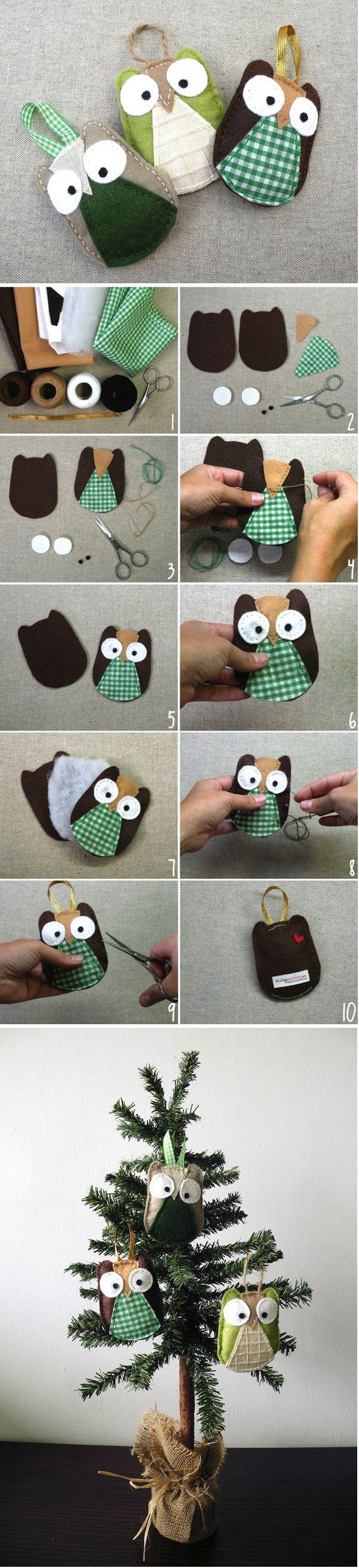 DIY Adorable Owl Ornament