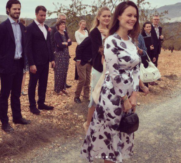 Prince Carl Philip and Princess Sofia visited Swedish Church in Fuengirola