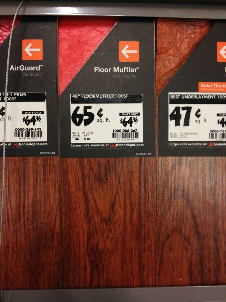 Floor muffler underlayer Home Depot
