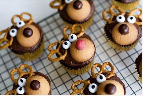 Reniferowe cupcake'i  fot. pinterest.com