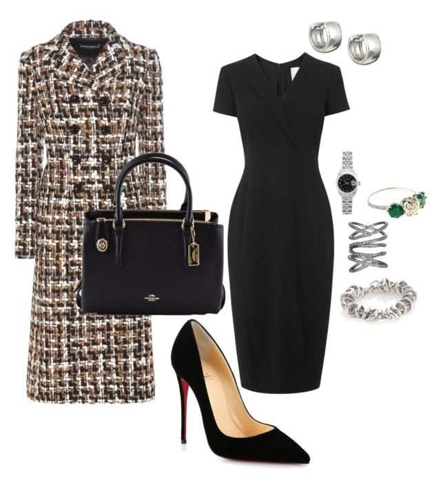 """""""Work"""" by cgraham1 on Polyvore featuring Dolce&Gabbana, L.K.Bennett, Christian Louboutin, Rolex, Sidney Chung, Coach, Sterling Essentials and Pomellato"""