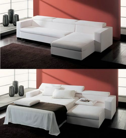 Clear White Sectional Sofa Bed