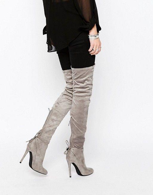 Public Desire | Public Desire Colette Heeled Thigh High Boots