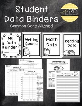 Let your students take charge of tracking their own progress monitoring with a student data binder. {included} - Charts that align with the Florida math standards for 2nd grade and the GO!