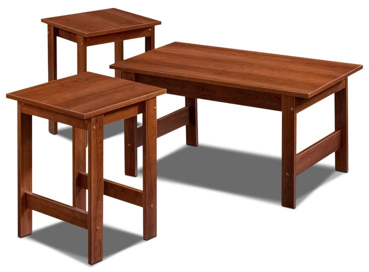 Accent and Occasional Furniture - Beginnings 3-Piece Coffee and Two End Tables Package