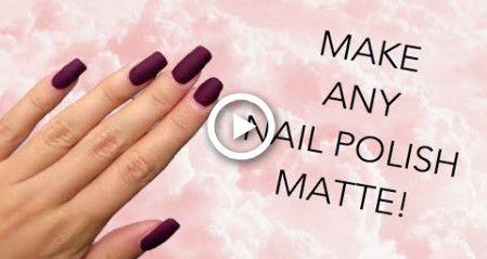 DIY MATTE NAIL POLISH | MAKE ANY NAIL POLISH MATTE!