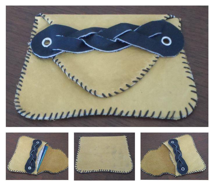 Monedero de cuero, hecho a mano