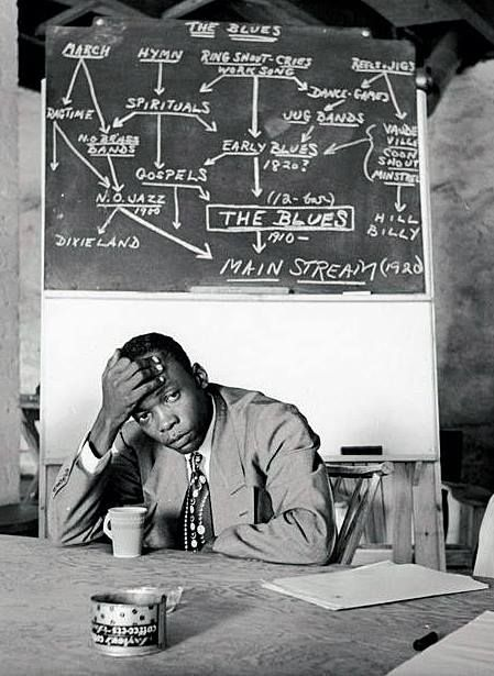 John Lee Hooker, Music Inn, Stockbridge, 1950 / Photo by Clemens Kalischer
