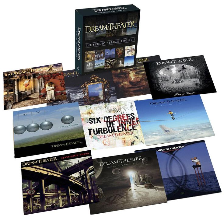 "Il cofanetto contiene 11 album dei #DreamTheater: ""Images & Words"" (1992), ""Black Clouds & Silver Linings"" (2009), ""A Dramatic Turn Of Events"" (2011), ""Falling Into iInfinity"", ""Systematic Chaos"", ""Octavarium"", ""Awake"", ""Six Degrees Of Inner Turbulence"", ""Metropolis II: Scenes From A Memory"" e ""Train Of Thought""."