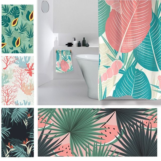 Microfiber Bath Towel Large Tropical Plants Beach Towel For Adult