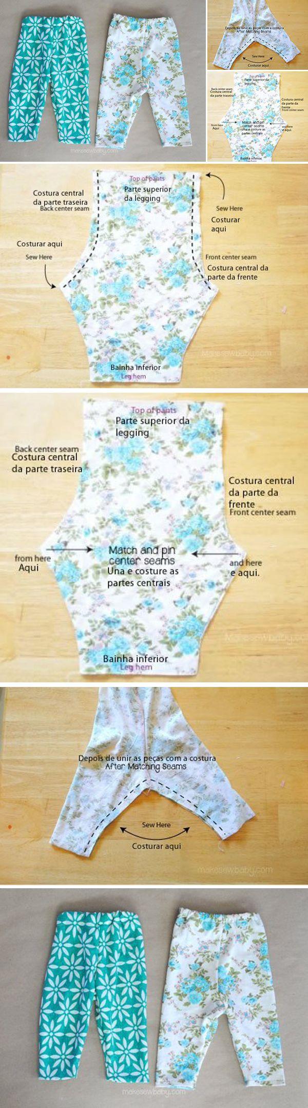 Como Costurar Leggings para Bebês