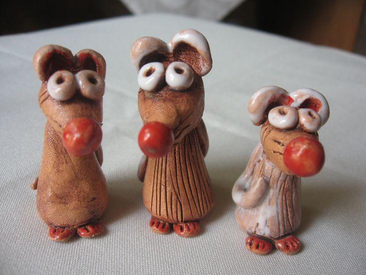 Myšky z keramiky