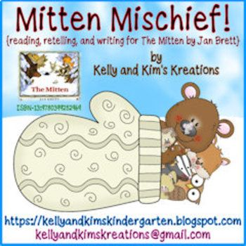 Mitten Mischief is a one-time prep or no-prep book companion for the favorite winter story we all know and love by Jan Brett. This pack includes a vocabulary mat, retelling pieces, a mitten lacing template, retelling pinch cards, several reading response writing pages, and an interactive book with predictable text.