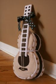 polka dot pix gal: guitar diaper cake for baby Jack