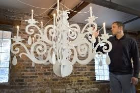 Image result for cardboard chandelier template design