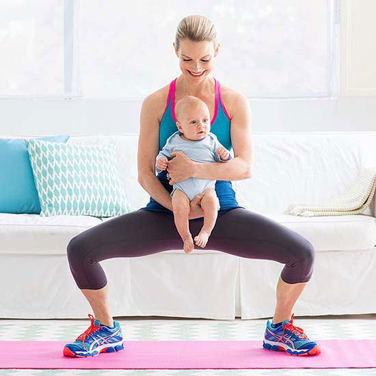 Try the Baby Squat and these 4 other trouble zone-toners that target your butt and thighs. Baby's weight is all the resistance you need!