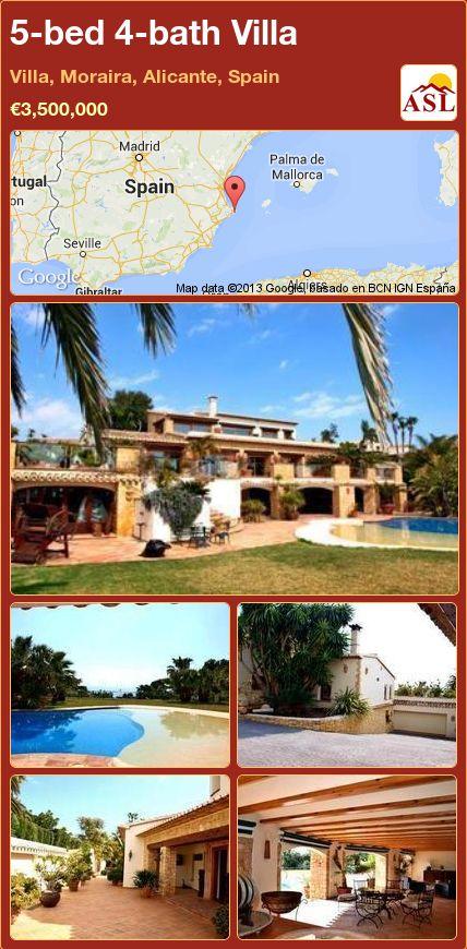 5-bed 4-bath Villa in Villa, Moraira, Alicante, Spain ►€3,500,000 #PropertyForSaleInSpain