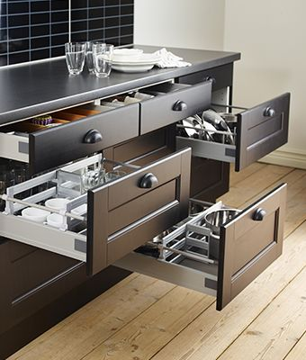 Organised kitchen drawers