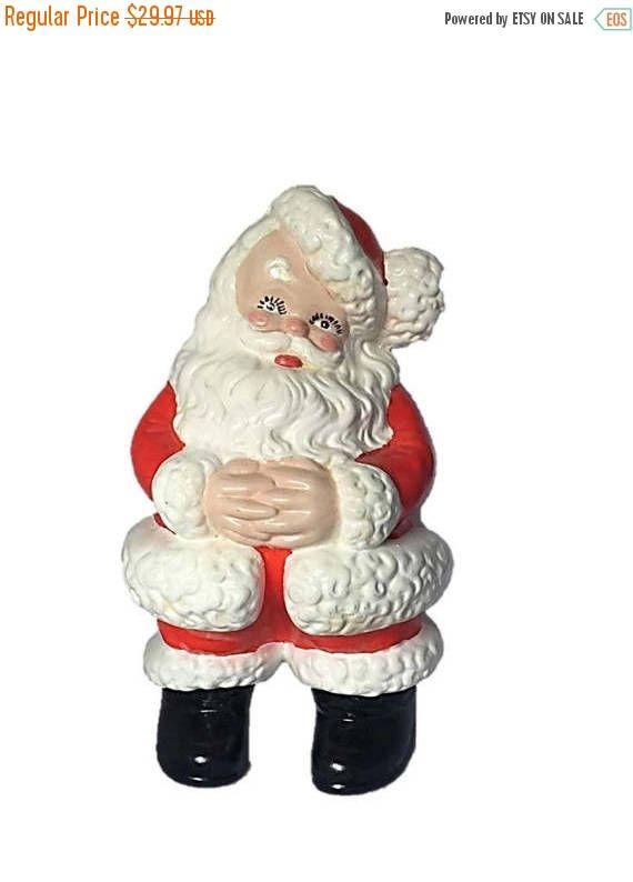 ♥Ω Vintage Ceramic Santa |  #Hand #Made Santa Figurine |  Vintage #Home Deco... Visit http://etsy.me/298d7K7