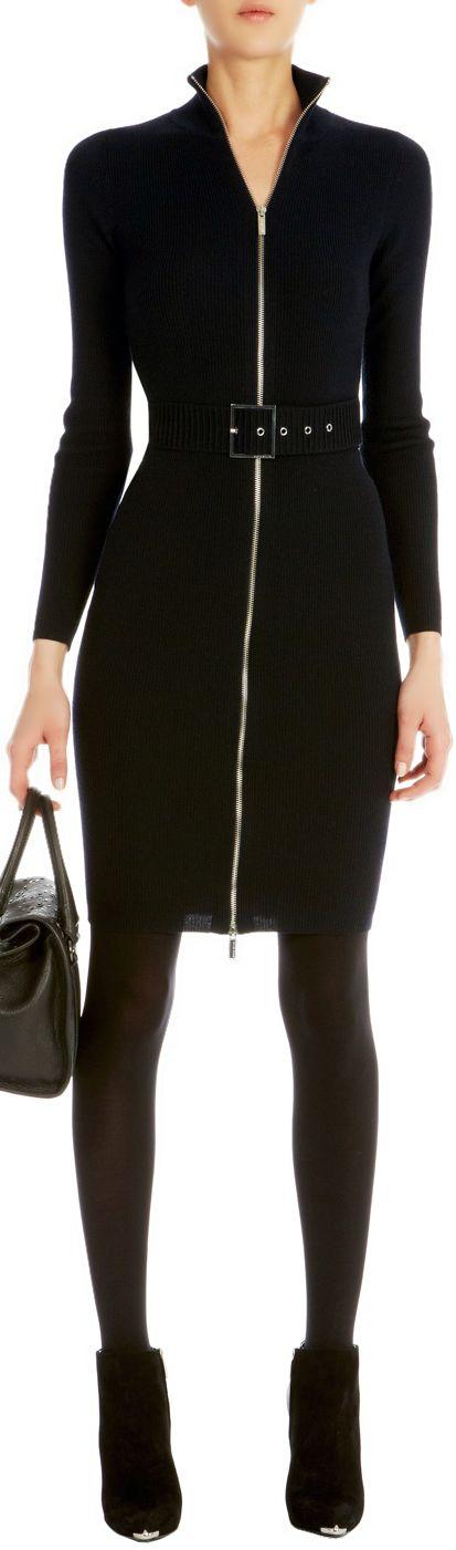 Karen Millen ●  Zip knit dress (not sure how you breathe, but love the look)
